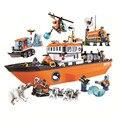 10443 760 шт городской arcческий ледокол Bela совместим с Lepining 60062 конструктор игрушка