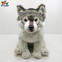 Lifelike Wolf Dog Husky Puppy Plush Toy Triver Stuffed Animal Doll Baby Kids Wolf Lover Birthday Gift Home Shop Decoration