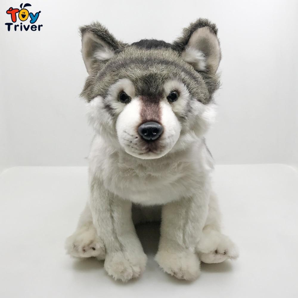 Simulation Wolf Dog Husky Puppy Plush Toy Stuffed Animals Doll Baby Kids Boy Girl Children Birthday Gift Home Decoration Crafts