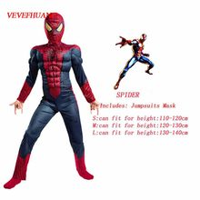 VEVEFHUANG Super araignée héros Muscle Version enfants Cosplay Costume drame scène Performance vêtements enfants cadeau Halloween(China)