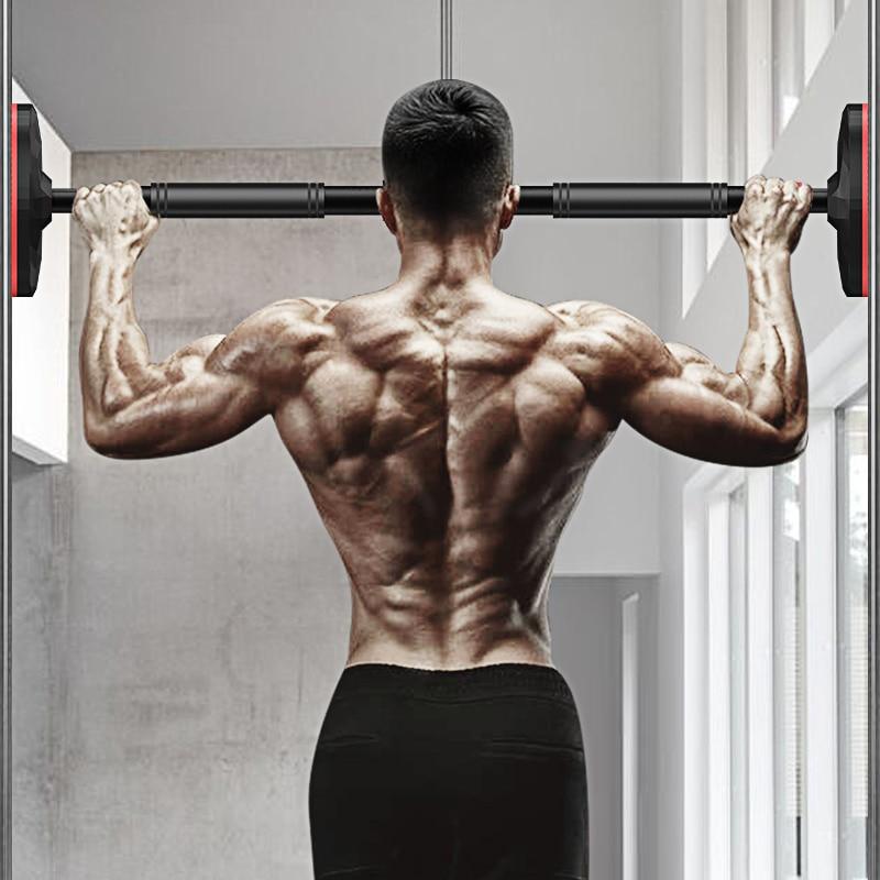 Barras horizontais da porta de aço ajustável casa gym workout parede barra horizontal puxar para cima barra de treinamento esporte fitness sit-ups equipamentos
