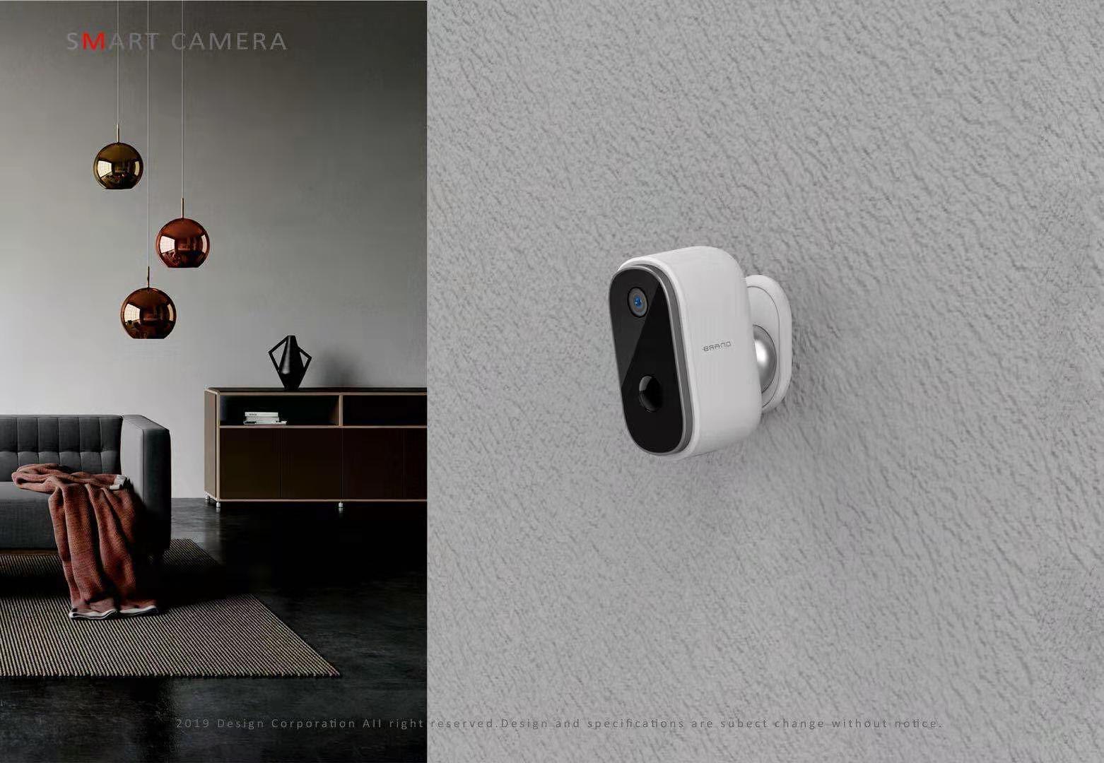 1080p batterywireless câmera de vigilância com wifi em casa alarme bateria segurança externa áudio ao ar livre alimentado por bateria ip câmera