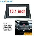 10 1 дюймов 2din Автомобильная фасция для HONDA ACCORD 8th 2008 - 2013 двойной Din Фасции Аудио Адаптер Facia Панель рамка наборы