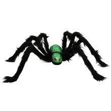 75cm Super Big Plush Spider Halloween Decorations Fake Realistic Spider Prank Toy Props Haunted House Scary Decorations(China)