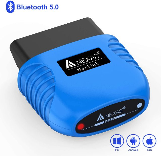 Nexas Nexlink Bluetooth 5.0 Obd 2 Scanner Eobd Diagnostic Tool Engine Code Reader Auto Scan Tool Voor Ios Android Windows