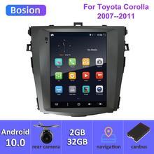 9,7 дюймов Автомобильный Радио для Защитные чехлы для сидений, сшитые специально для Toyota Corolla Android 10 стерео GPS Navi подходит 10 E140 E150 2006-2013 Bluetooth 5,0 ...