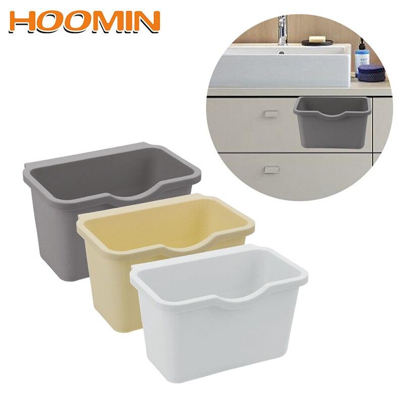 HOOMIN Plastic Cabinet Door Rear Hanging Trash Shelf Can Holder Hanging Storage Kitchen Trash Trash Bag Multifunction