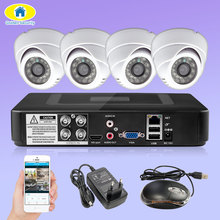4CH DVR CCTV System  Cameras 4CH 2.0MP IR Indoor Security Camera 1080P HDMI AHD CCTV DVR 3000 TVL Surveillance Kit цена