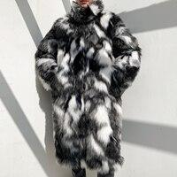 Flower Leather Fur Keep Warm Windbreak Men Coat Long Warm Mens Camouflage Thick Fur Collar Coats Jacket Faux Fur Parka Outwear