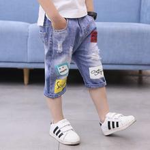 5 do 14 lat chłopięce spodenki jeansowe nastolatki chłopięce spodenki letnie dziecięce kowbojskie dorywczo krótkie spodnie chłopięce spodenki jeansowe spodnie dziecięce chłopięce tanie tanio COTTON Poliester Szorty Pasuje prawda na wymiar weź swój normalny rozmiar Chłopcy A047 Na co dzień Elastyczny pas REGULAR