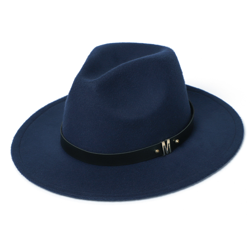 Man Fedora Hats Top Winter Imitation Wool Cap Women 2020 Autumn Classic Wide Brim Black Red Men Felt Hats Women 4