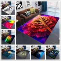 Kreative Geometrische Farbe Muster 3D Teppich Gleitschutz Tee Tisch Matten/Teppiche für Wohnzimmer Schlafzimmer Bereich Teppich Flur Decor teppiche