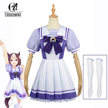 Rolecos uma musume bonito derby trajes cosplay semana especial cosplay uniforme de marinheiro lolita vestido escola menina uniforme vestido