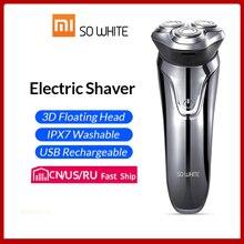 SOOCAS SO WHITE ES03 электробритва 3D станок для бритья Xiaomi Бритва для мужчин триммер для бороды волос в носу электрическая бритва