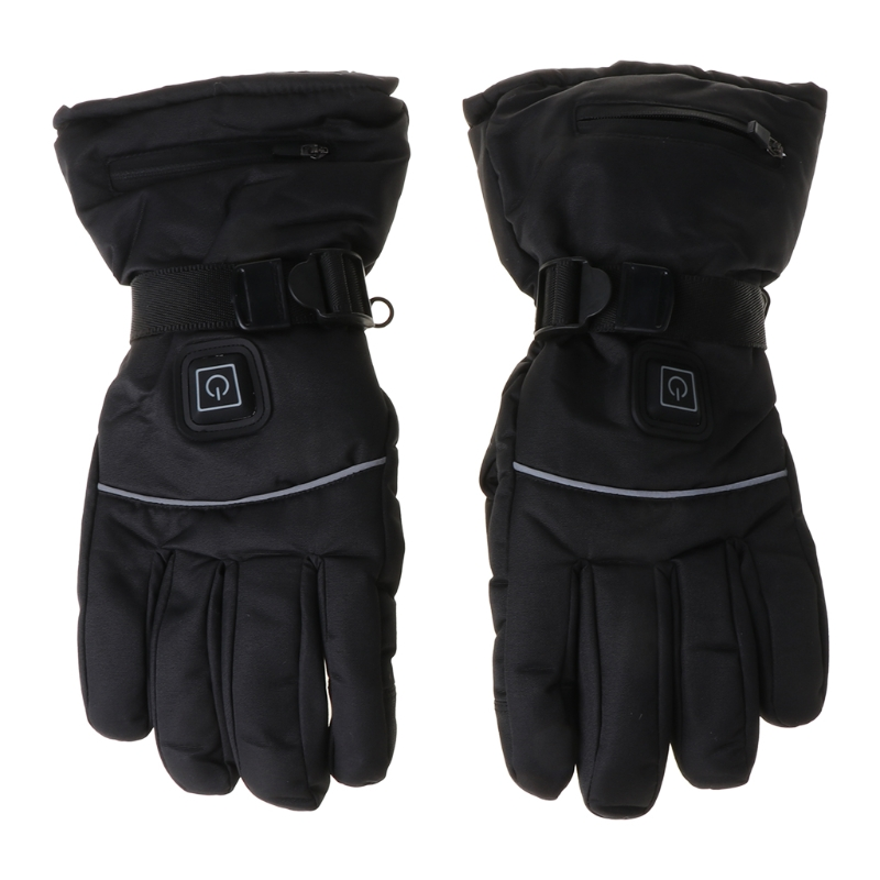 Men Women Winter Electric Heated Gloves with Reflective Strip Battery Powered NEW