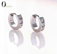 Classic Hoop Earrings Rhinestone stainless steel earrings Ear cuffs Round Ring Ear Piercing Jewelry