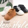 Классические мокасины для малышей, мягкая кожа, резиновая подошва, Нескользящие, обувь для первых шагов, для мальчиков и девочек, для новоро...