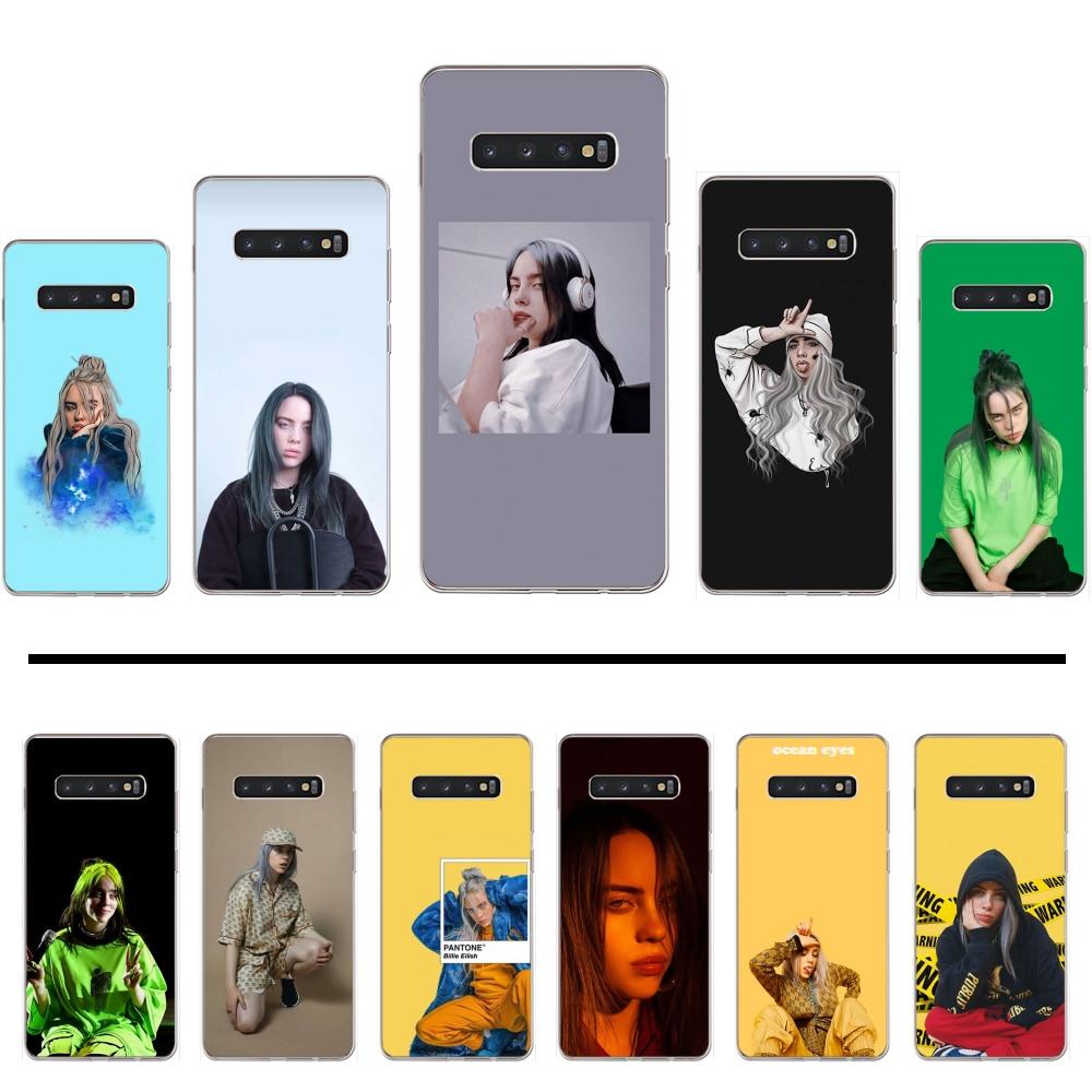 Billie eilish khalid adorável duro suave tpu capa de telefone casco para samsung galaxy s5 s6 s7 s8 s9 s10 s10e s20 borda mais lite