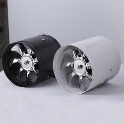 Ventilador de conducto en línea de 4 pulgadas ventilador de aire ventilador de ventilación de tubo de Metal Extractor Mini Extractor luz de pared para baño ventilador de acceso