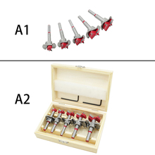 цена на New  Hex Wrench Hinge Boring Drill Bit Set For Carpentry Wood Window Hole Cutter Auger Wooden Drilling Kit 2019 Original