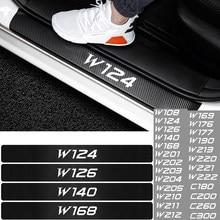 4 Uds coche-estilo fibra de carbono Protector de alféizar decoración pegatinas para Mercedes AMG W124 W126 W140 W220 W221 W222 C180 C200 C260