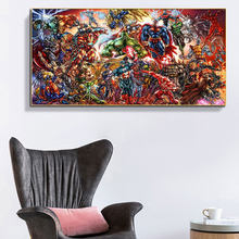 Superhero Canvas Painting Animation Comics Poster Wall Art Print for Living Room Office Bedroom Aesthetic Wall Picture Cuadros