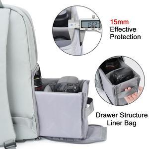 Image 4 - CADeN Dslr appareil photo sac étanche sac à dos épaule ordinateur portable appareil photo numérique lentille photographie bagages sacs étui pour Canon Nikon Sony