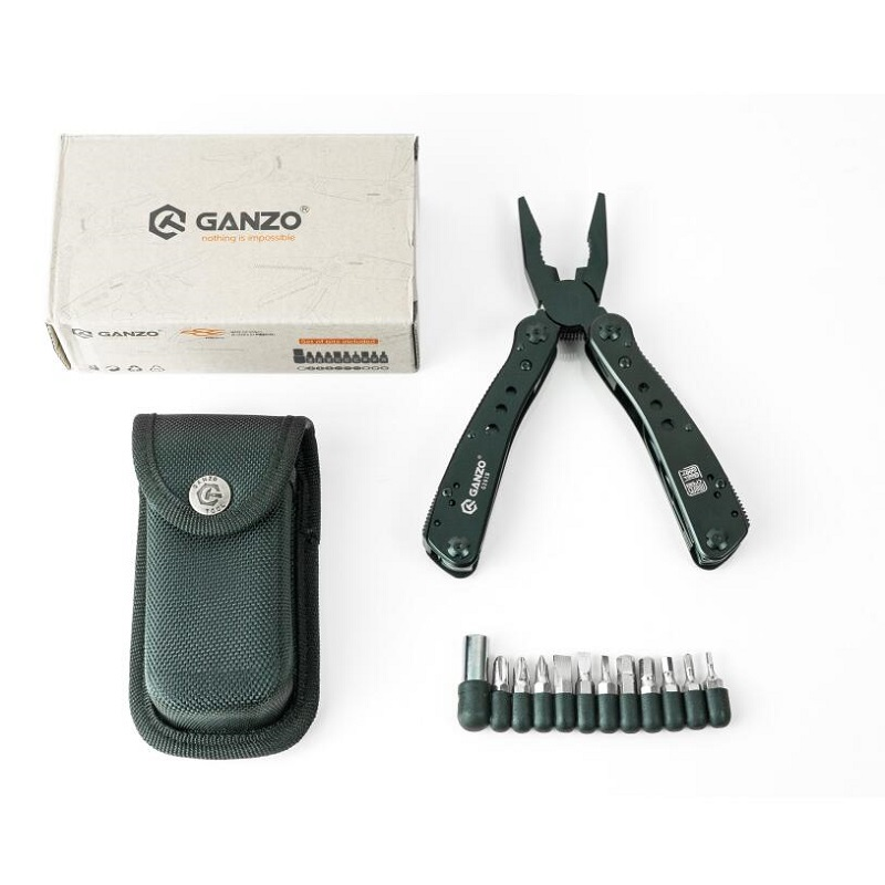 <font><b>Ganzo</b></font> G201 <font><b>G201B</b></font> EDC 440C stainless steel multi functional folding plier outdoor camping Hand tools set image