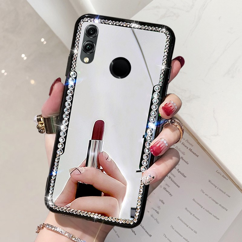 Soft Mirror Phone <font><b>Case</b></font> <font><b>Huawei</b></font> Honor 8X 8C 8A Honor 10 Lite 10I 20I <font><b>Huawei</b></font> Nova 3I P Smart Z Plus 2019 <font><b>P20</b></font> Lite Pro Bling Cover image