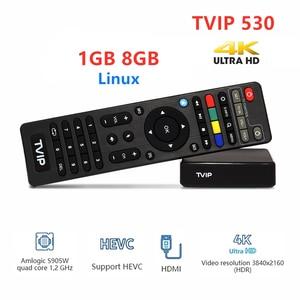 Image 5 - Newest TVIP530 Amlogic S905W TvBox 1GB 8GB  Quad Core TV Box S Box V.530 Youtube 4K Linux OS TVIP 530 PK 410 412 415 Media playe
