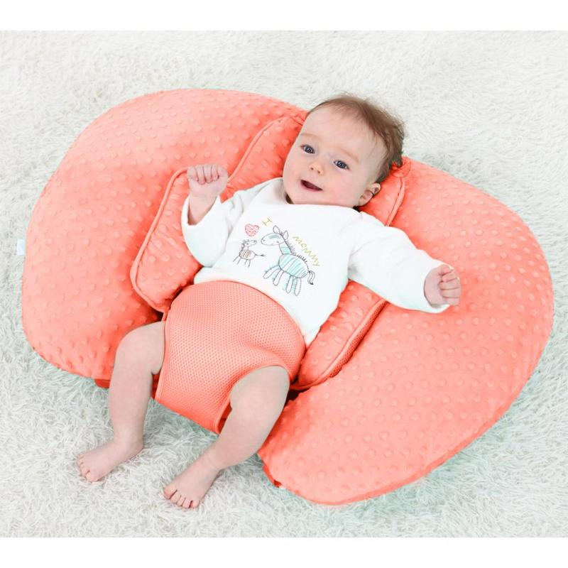 Baby's Anti Spitting Pillow Beanie Velvet Sandwich Net Baby's Anti Overflow Cushion Seat Pregnant Woman's Waist Pillow Baby Care