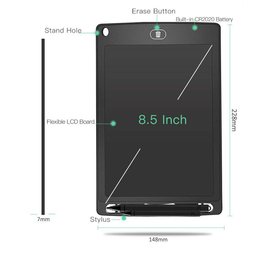 8.5Inch Electronic Smart Digital Graphic Board Writing Tablet Screen LCD Notepad