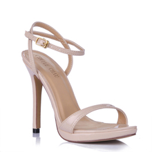 Summer New 12cm High Heeled Sandals Ankle Strap Women Sandals Stiletto Thin heel  Open Toe Sexy Party Dress Lady Shoe 3ASL-a1