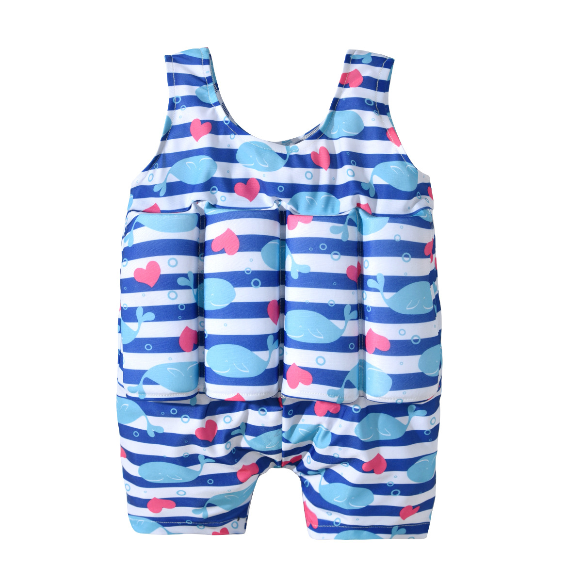 19 Years New Style KID'S Swimwear Europe And America Girls Small Whale Heart Tour Bathing Suit Swimming Training One-piece Swimw