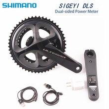 SHIMANO platos y bielas ULTEGRA R8000 para bicicleta de carretera, medidor SIGEYI DLS, manivela de 170mm y 172,5mm, actualización de potencia AX