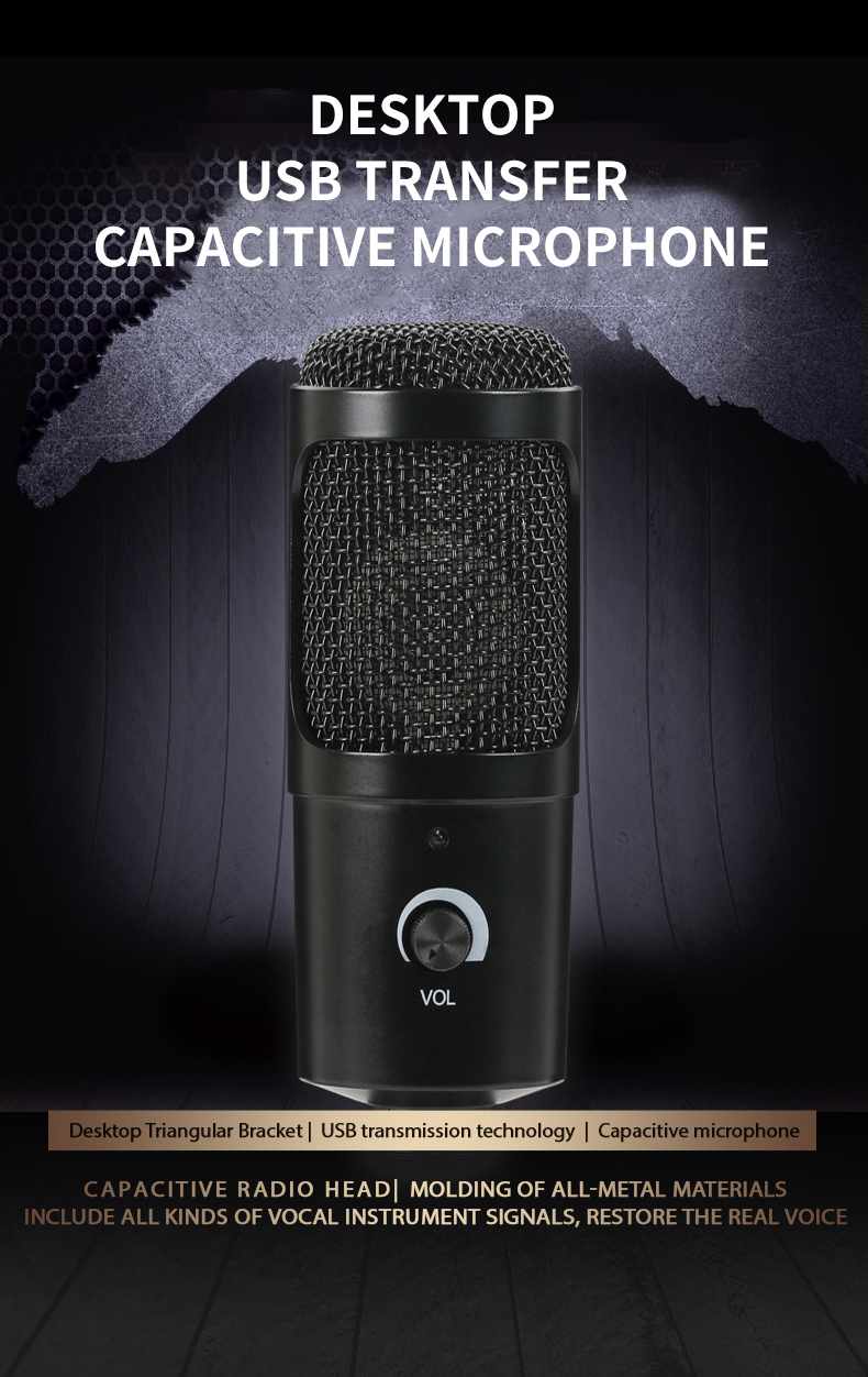Felby USB Podcasting Condenser Microphone 10