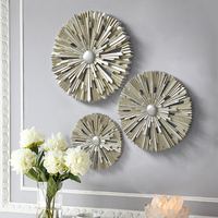 Modern Resin Wall Hanging Crafts Decoration Home Living Room Accessories Artwork Sofa TV Background Wall Sticker Ornaments Decor