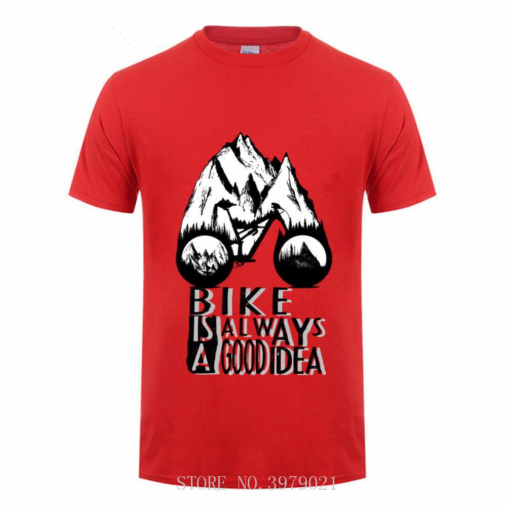 MTB マウンテンバイクサイクル良いアイデアです男性 tシャツ 2018 自転車 bmx tシャツライダー mountainsYoung 男ブラウス tシャツ