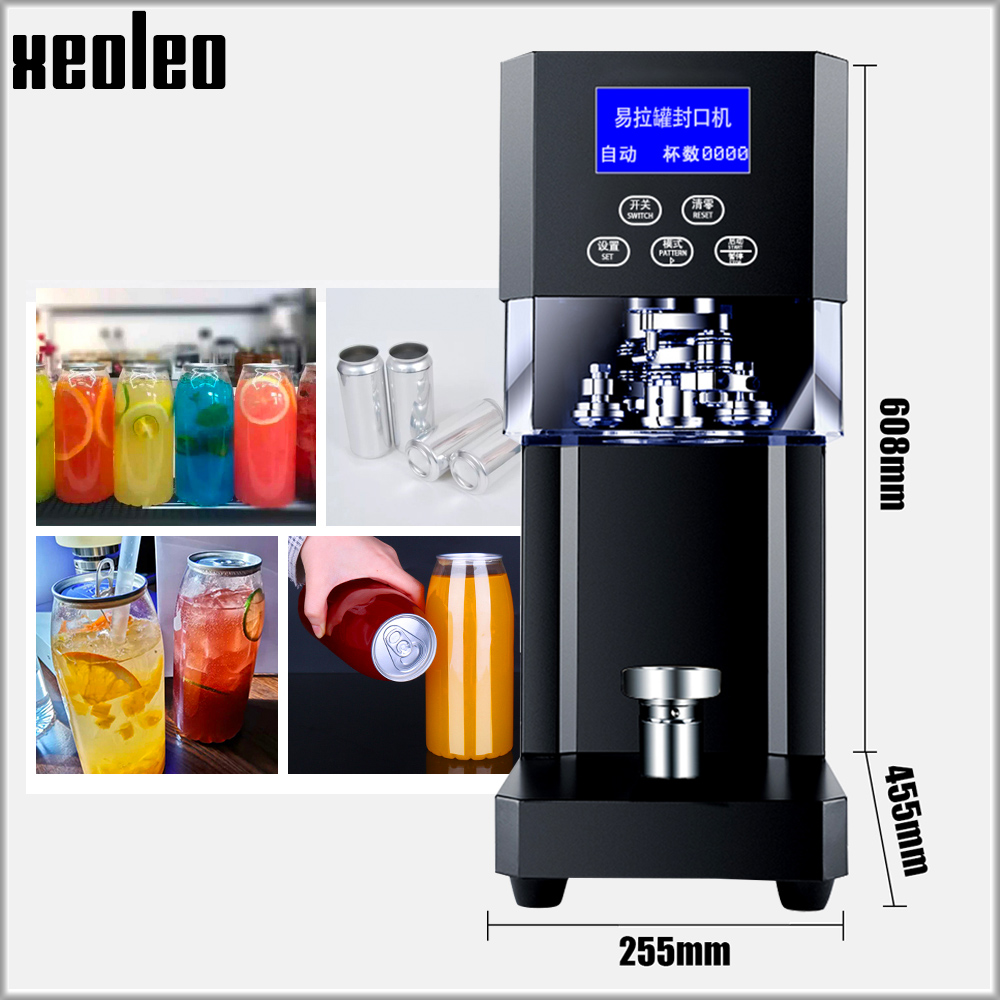 XEOLEO Cans Sealing Machine 55mm Drink Bottle Sealer Coffee/Tea Can Sealing Machine 370W Beverage Bottle Sealer Machine 220V