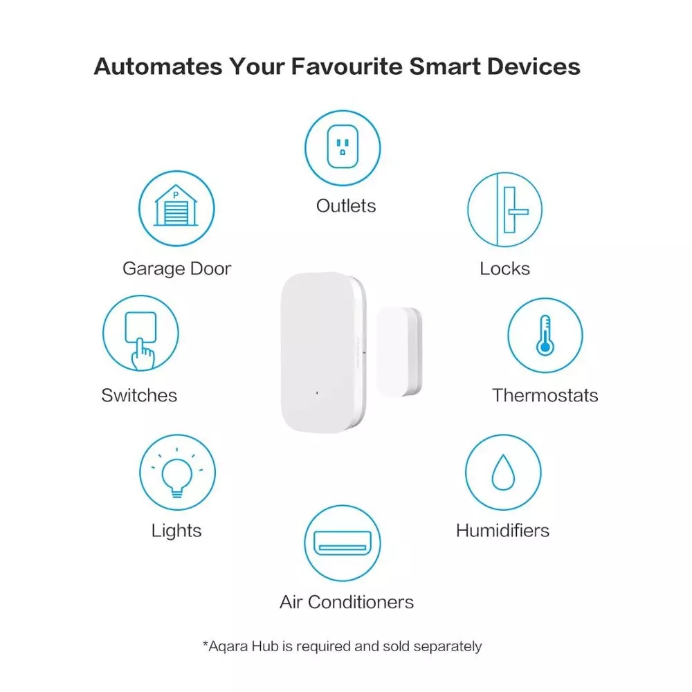 Aqara Door Window Sensor Zigbee Wireless Connection Smart Mini door sensor Work With Android IOS App control