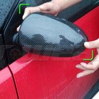 Carro de fibra de carbono inteligente fora da asa espelho capa guarnição para mercedes-benz 2009-2014