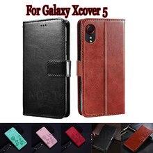 Чехол для Samsung Galaxy Xcover 5, защитный чехол для телефона, чехол для Samsung Xcover5, чехол-книжка с бумажником и подставкой, кожаная сумка-книжка