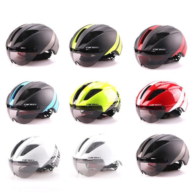 Cairbull 280g aero ultra-luz goggle tt estrada bicicleta capacete in-mold corrida ciclismo esportes segurança tempo-julgamento ciclismo capacete 2