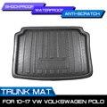 Tapis de coffre arrière de voiture tapis de sol imperméable tapis Anti boue plateau Cargo Liner pour VW Volkswagen Polo 2010 2017| |   -