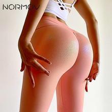 NORMOV Yoga Pants Pearly Bright Surface Yoga Leggings Fitness Women Hip Lift High Waist Squat Proof Sports Energy Gym Leggings