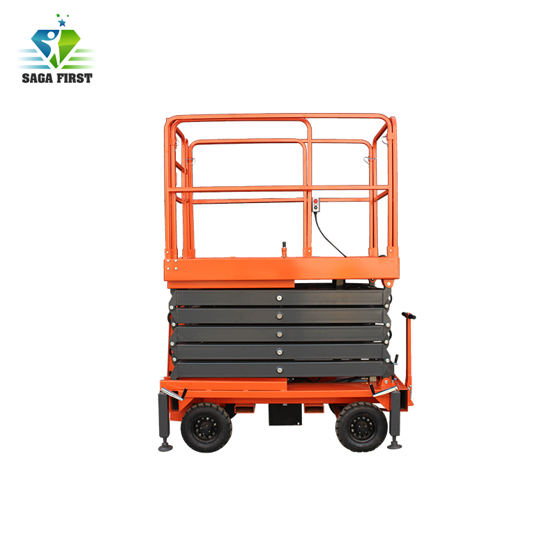 Hydraulic Trailing Upright Scissor Lift With Ce For Sale