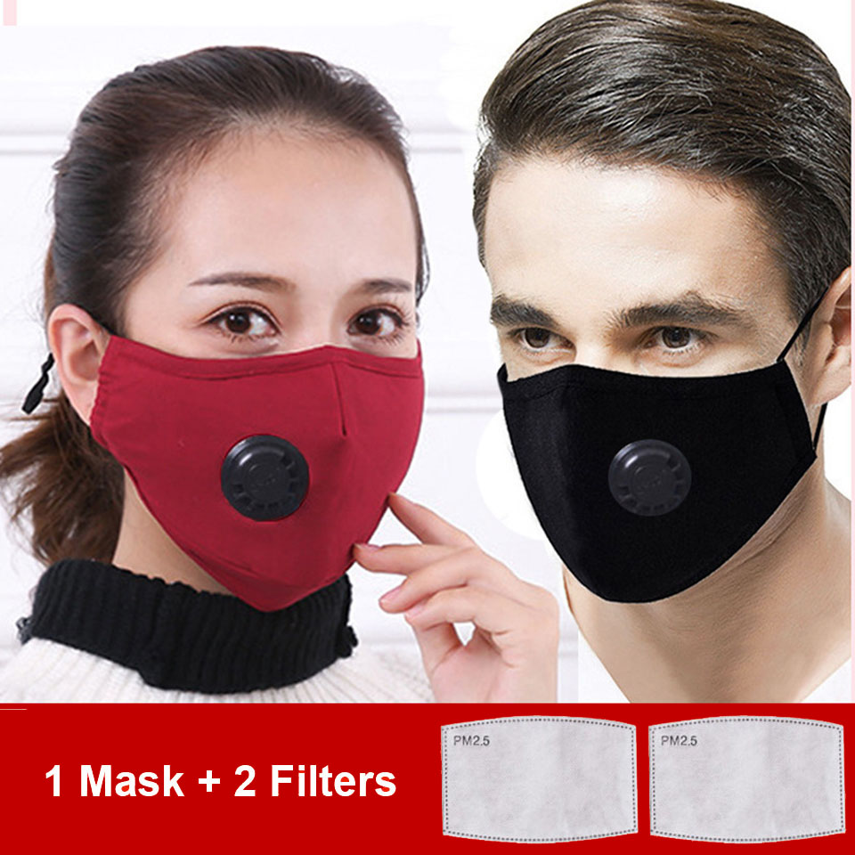 Anti Pollution PM2.5 Mouth Mask Dust Respirator Washable Reusable Masks Cotton Mouth Muffle For Allergy/Asthma/Travel