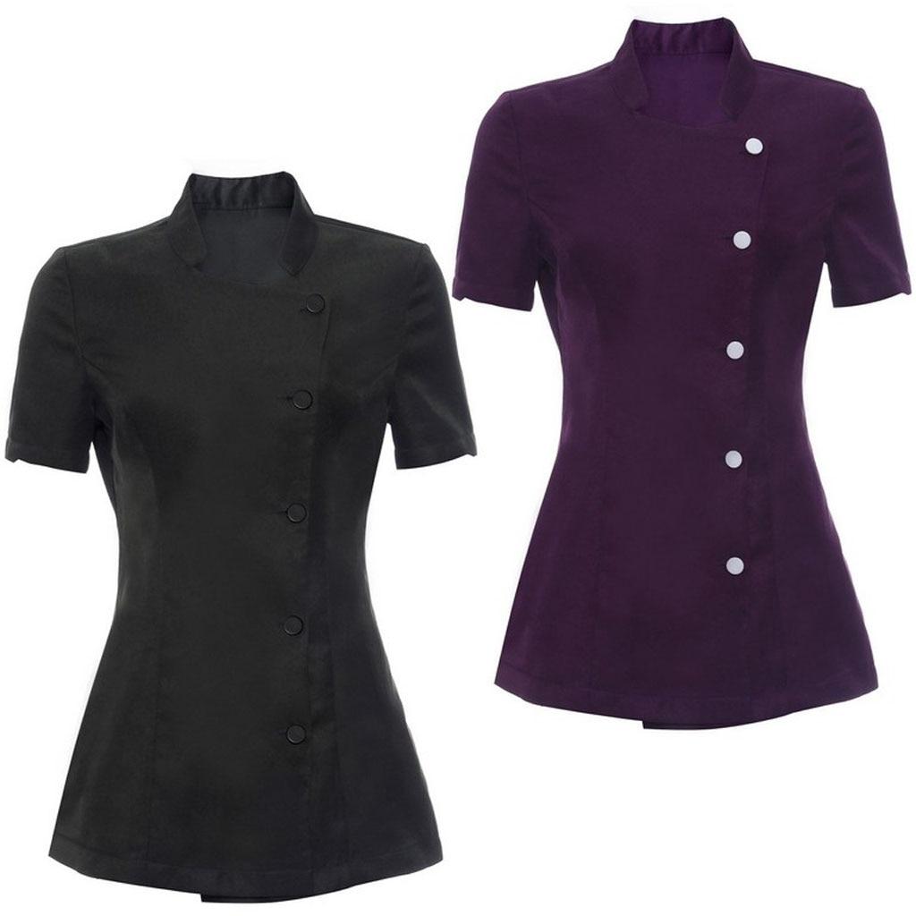 Salon Spa Beauty Beautician Hairdressers Nails Uniform Tunic Salon Spa Worker Uniform Nurse Uniform Slim Gown Spa Scrubs Overall