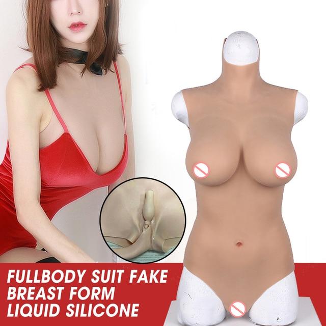 Силиконовый чехол с чашечками B, C, D, Halfbody костюм накладная грудь искусственная вагина формы плотно вставки для Перетащите королева трансвестит