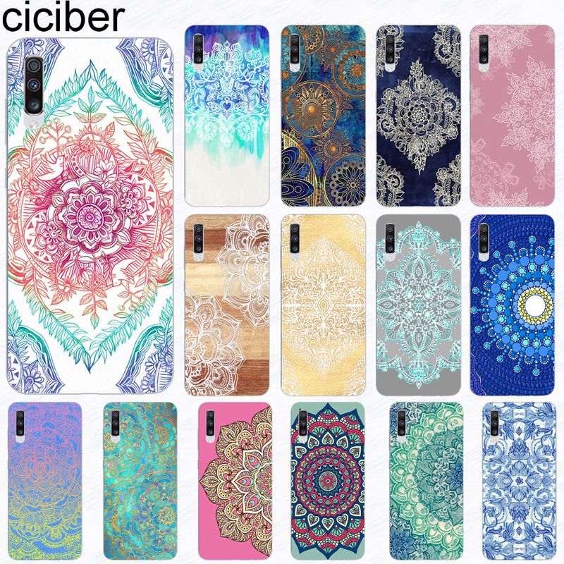 ciciber Phone Case for Samsung Galaxy A50 A70 A80 A40 A30 A20 A60 A10 A20e Soft Silicone Mandala Flower Pattern Cover Funda Capa-in Fitted Cases from Cellphones & Telecommunications